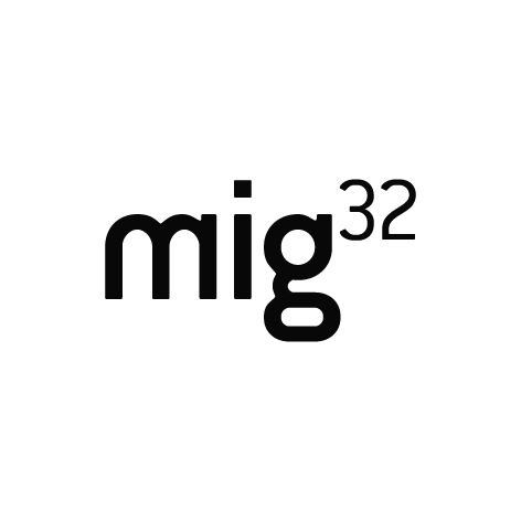 mig 32 -- office sharing organized by several architects in GRAZ (logo design)